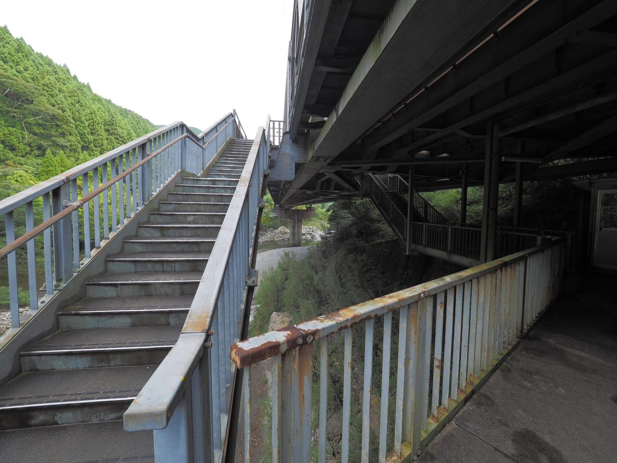 土佐北川駅 階段