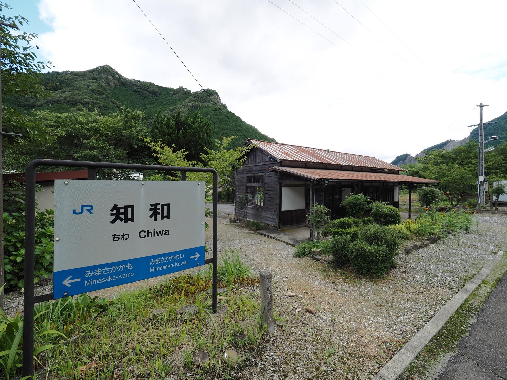 知和駅 駅名標