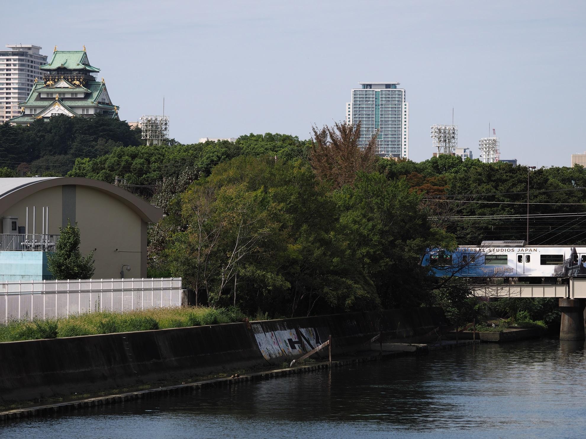 大阪城とハリーポッターラッピング