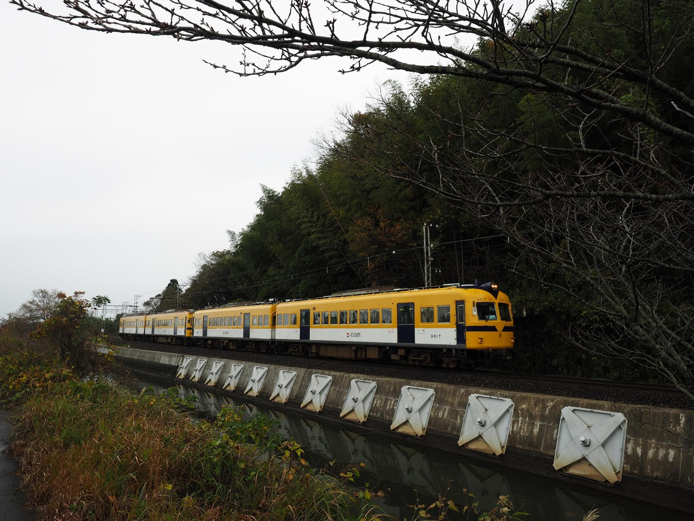 一畑電車-3000系4両運転イベント朝日が丘駅