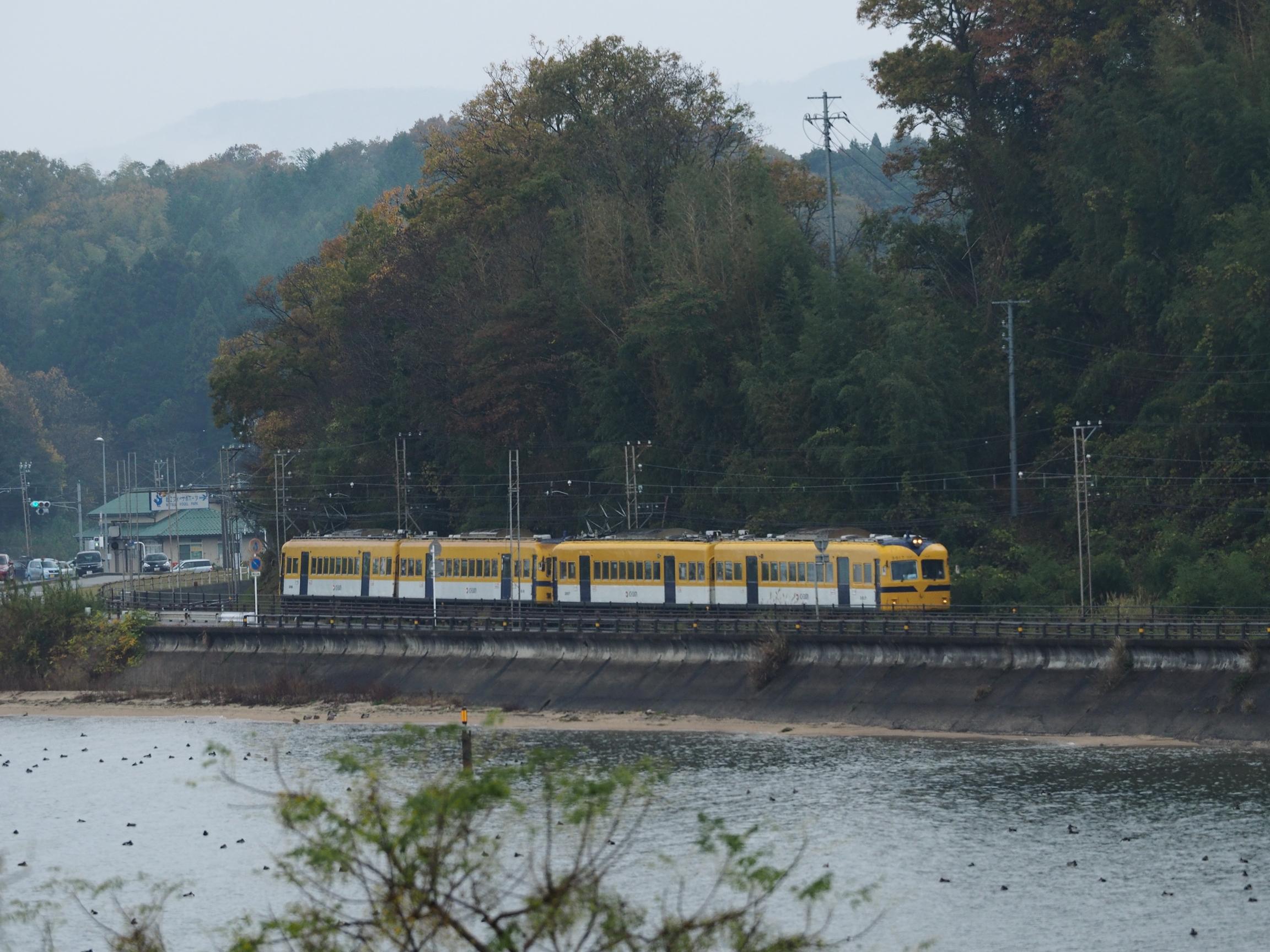 一畑電車-3000系4両運転イベント-秋鹿道の駅