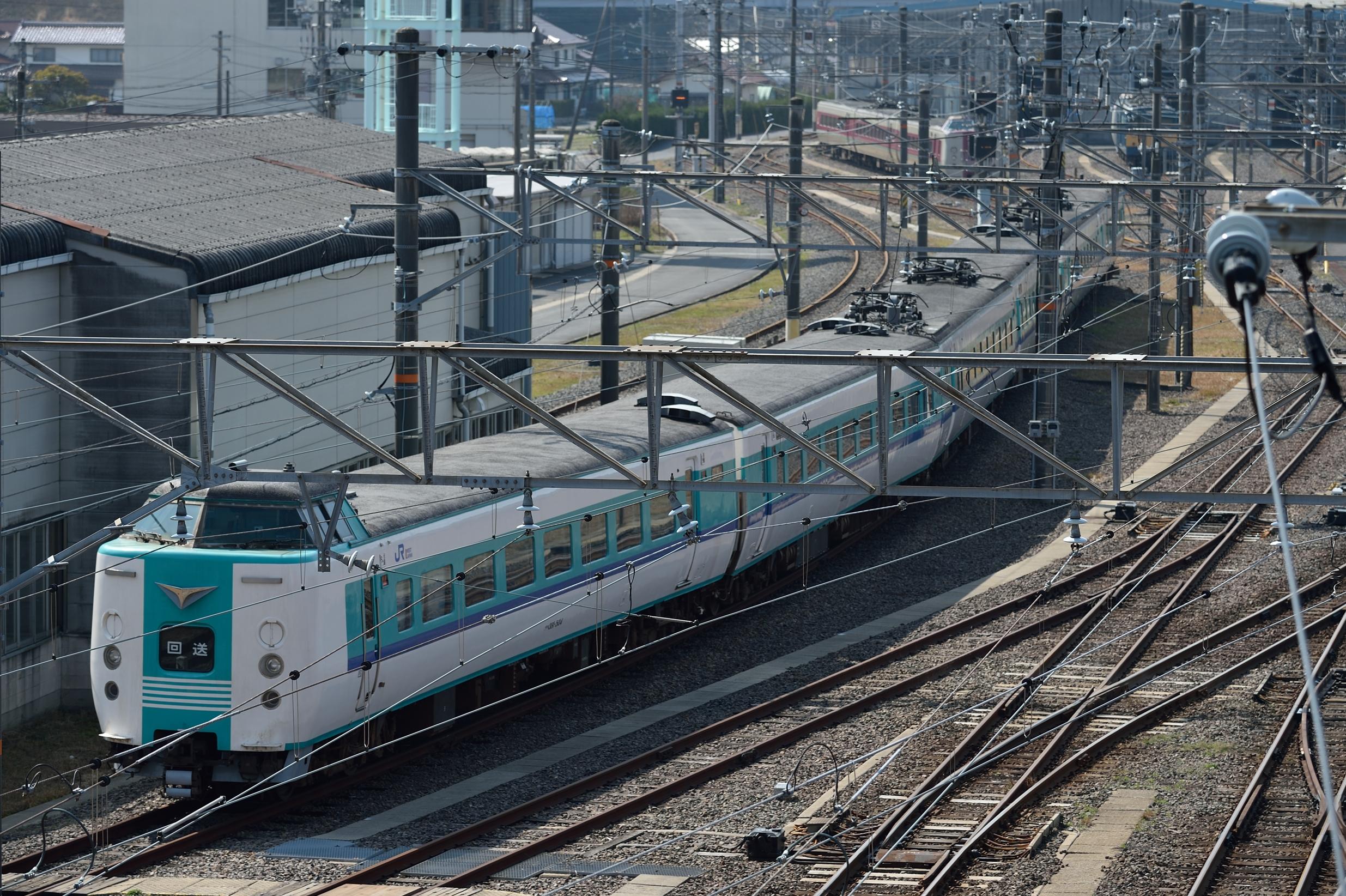後藤総合車両所出雲支所 381系HD...