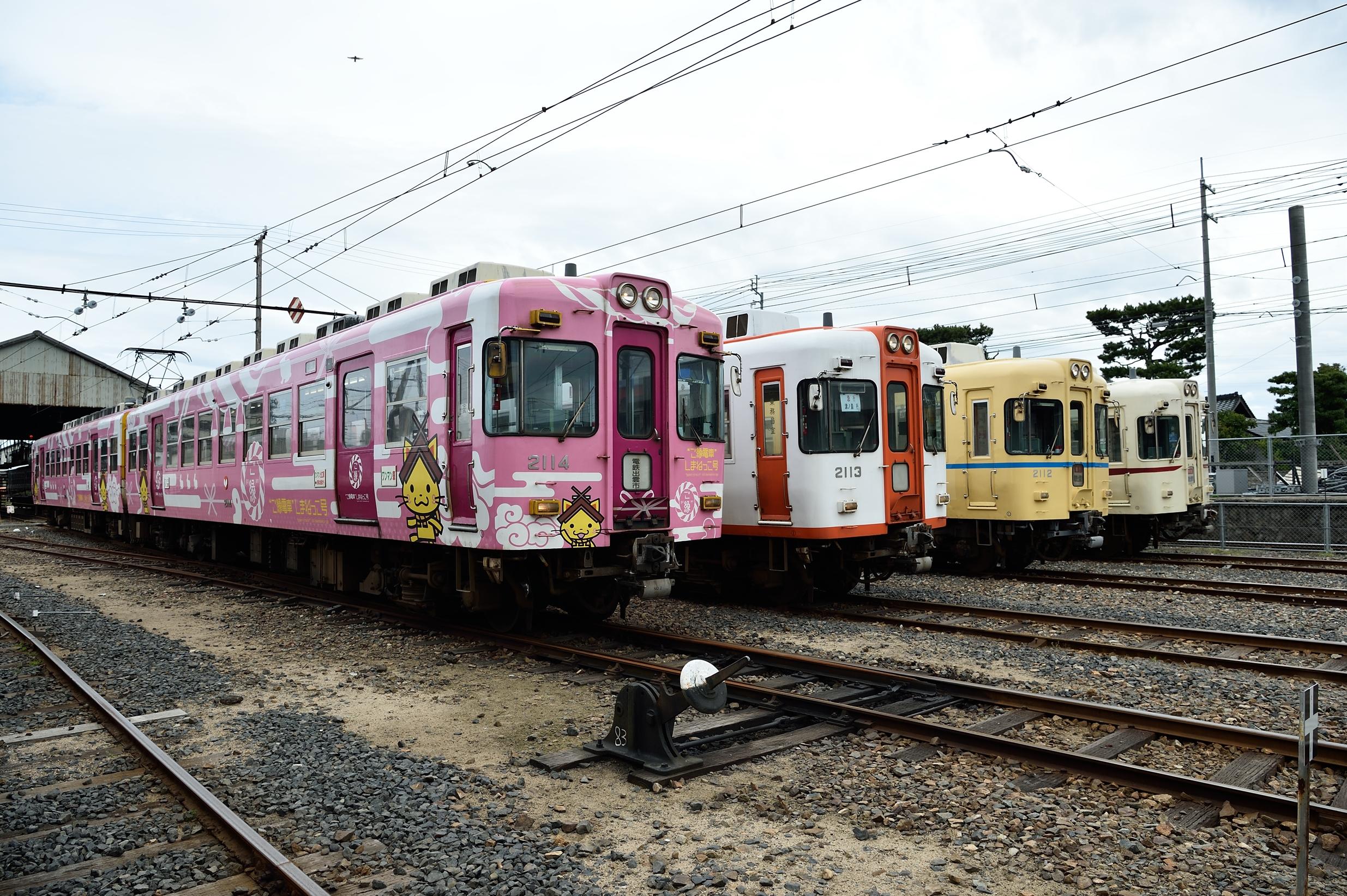 一畑電車の2100系撮影会3