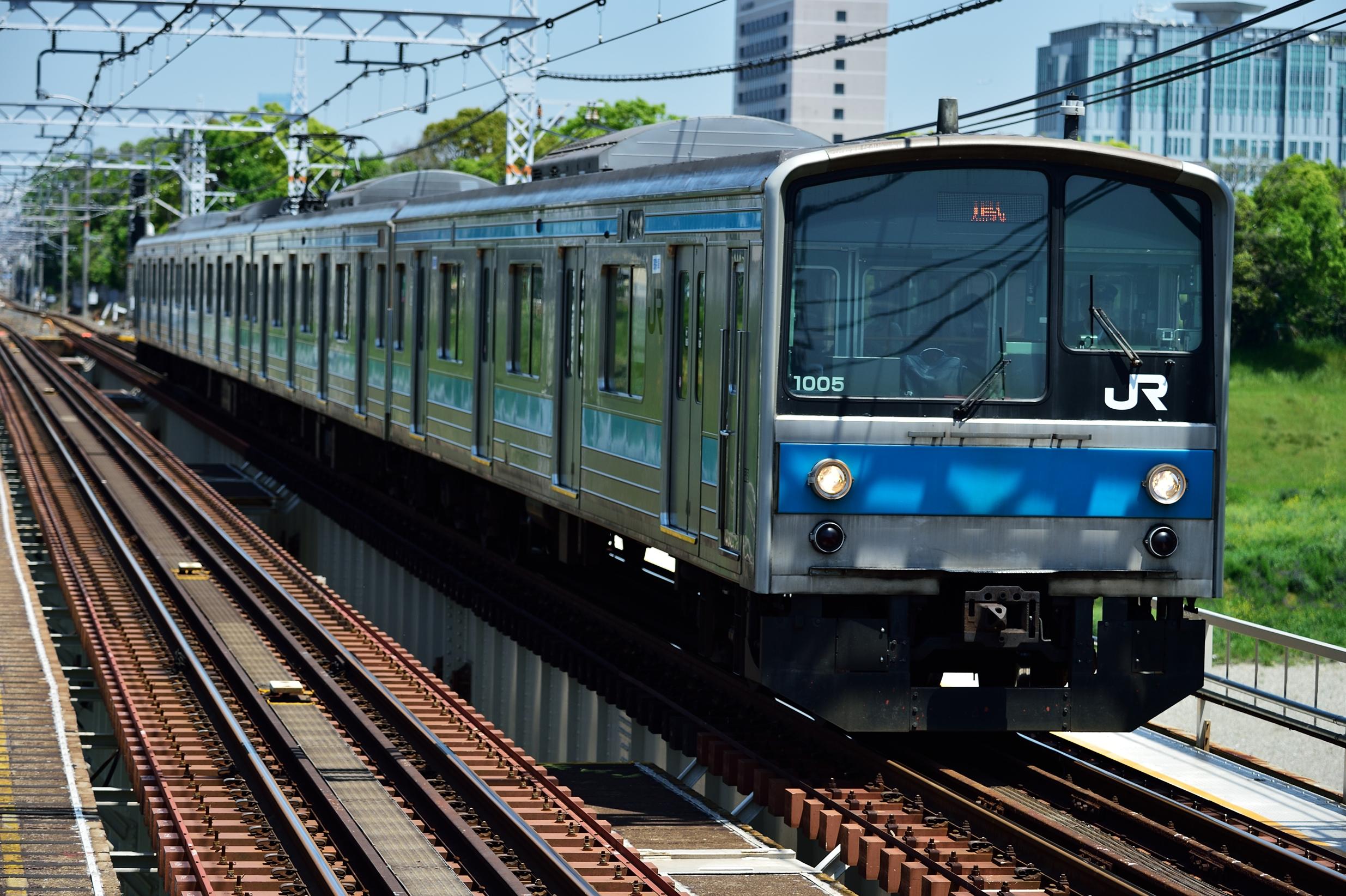 浅香駅 205系