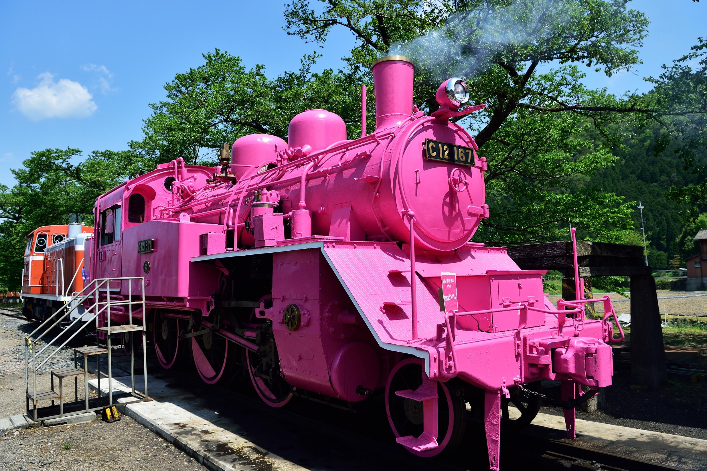 若桜駅 ピンクのSL2